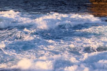 Windy blue sea