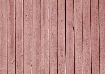 Red color painted wooden plank pattern.