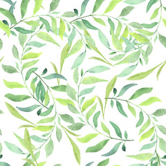 Watercolor pattern. Floral background