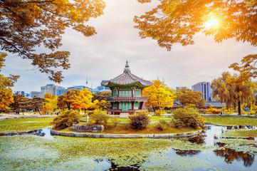 Wall Mural - Gyeongbokgung Palace in autumn,South Korea.