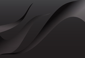 Black gradient abstract line curve wavy background