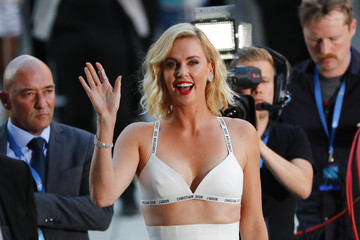 Cast member Charlize Theron arrives for the world premiere and screening of the movie 'Atomic Blonde' in Berlin