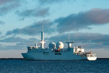 White military ship