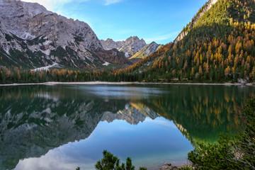 Lago di Braies reflections