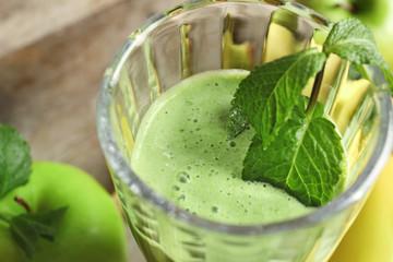 Glass of fresh juice,close up