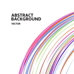 Amazing linear thread, abstract white vector background template backdrop space design for posters, flyers, covers, presentations, business cards. Vector Illustration