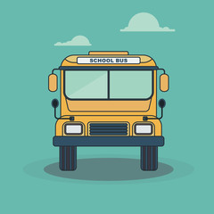 retro schooll bus top wiew