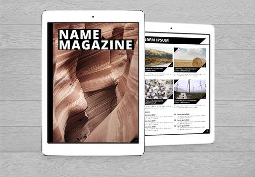 Elements Digital Magazine Layout