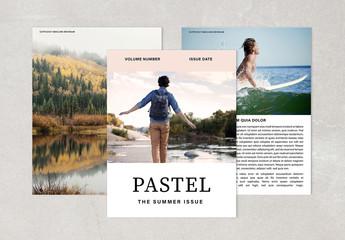 Pastel Magazine Layout