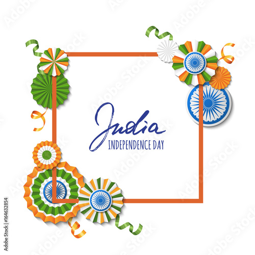 15th of August, India Independence Day  Vector paper stars