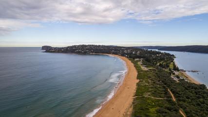 Aerial view of Palm Beach peninsula Sydney Australia