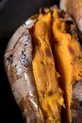 Macro of sweet potato texture