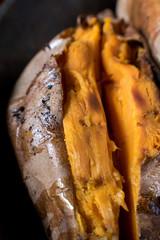 Macro of sweet potato texture