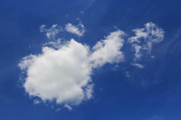 nice cloud in blue sky