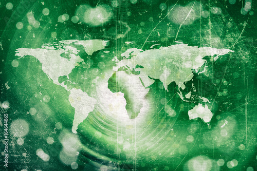 abstract green world map background