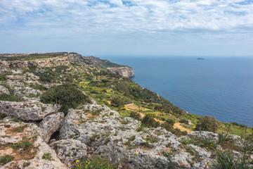 Dingli Cliffs in Valletta, Malta