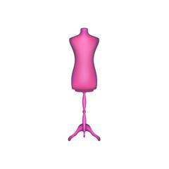 Vintage dress form in pink design