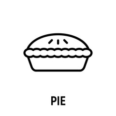 Thin line pie icon.