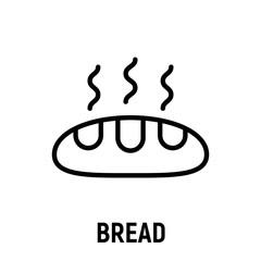 Thin line bread icon