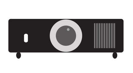 projector icon on white background. projector sign. flat style design.