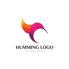 Hummingbird Logo Template Design Vector, Emblem, Design Concept, Creative Symbol, Icon