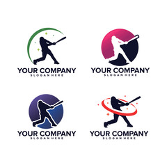 Baseball Sport Logo Template Design Vector, Emblem, Design Concept, Creative Symbol, Icon