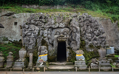 Ancient Hindu temple in Bali, Indonesia