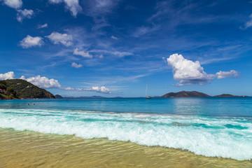 Wunderschöne Traumstrand auf Tortola. Karibik.