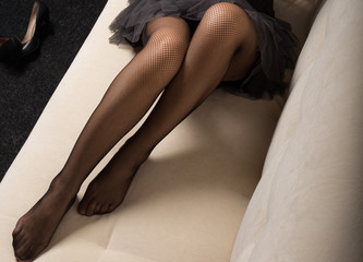 female legs in pantyhose and stockings