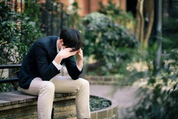 depressed businessperson