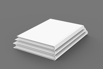 Hardcover books template