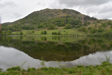 Poster Reflexion Nab Scar reflected in Rydalwater, English Lake District