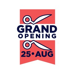 Grand opening on 25 August promotional emblem
