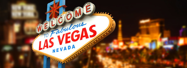 Photo sur Plexiglas Lieux connus d Amérique Welcome to fabulous Las Vegas sign