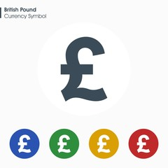 British pound sign icon.Money symbol. Vector illustration.
