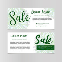 Sale banners design vector