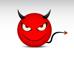 Vector angry devil icon