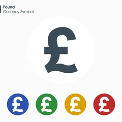 Pound sign icon.Money symbol. Vector illustration.