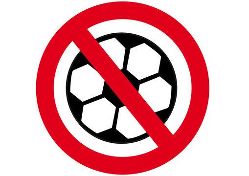Schild Fussball verboten