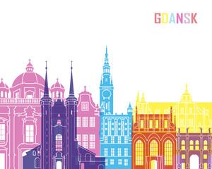 Fototapete - Gdansk skyline pop