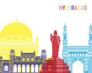 Wall Mural - Hyderabad skyline pop
