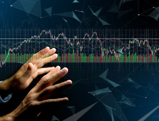 Trading forex data information displayed on a stock exchange interface - Finance concept