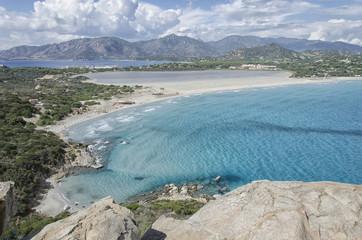 The coastline of the South Sardinia