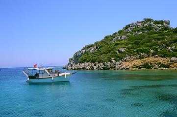 Boats and Yatch in the Aegean Sea, Datca, Mugla, Turkey