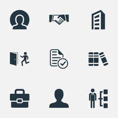 Vector Illustration Set Of Simple Resources Icons. Elements Door, International Trade, Hierarchy And Other Synonyms Emergency, Structure And Hierarchy.