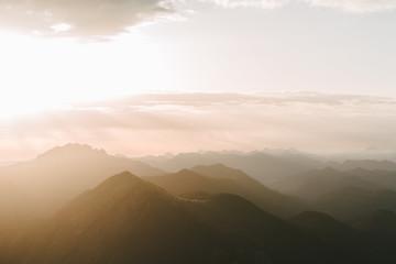 sunrise in the bavarian alps