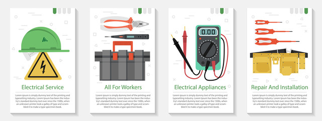 Four banner for electrical equipment