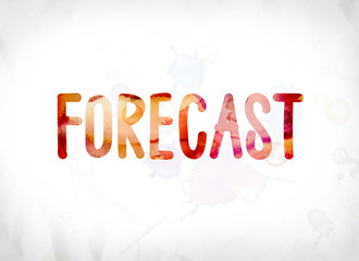 Forecast Concept Painted Watercolor Word Art