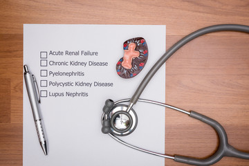 Doctor are diagnosing the disease in patient's kidney.