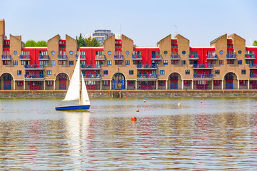 Dockside apartments at Shadwell Basin in London
